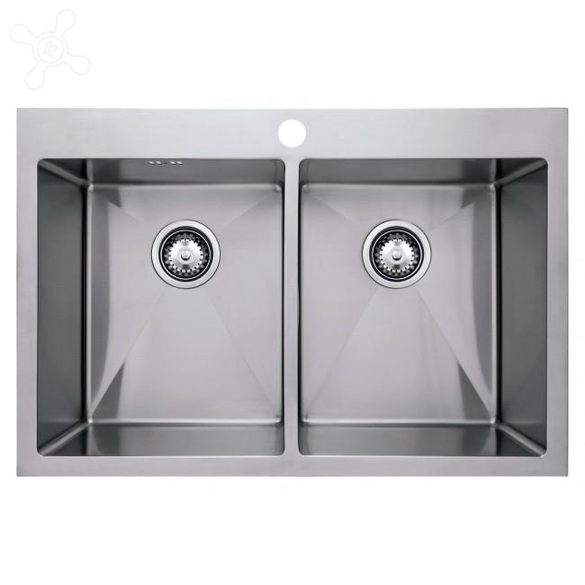 Врезная кухонная мойка Seaman ECO Marino SMB-7651DS.A 76х51см нержавеющая сталь
