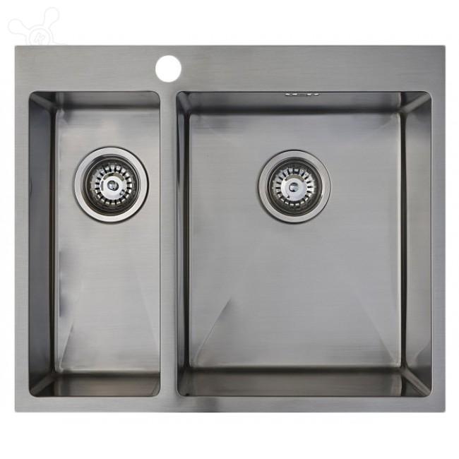 Врезная кухонная мойка Seaman ECO Marino SMB-6151DLS.B 61х51см нержавеющая сталь