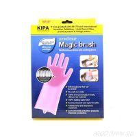 Многофункциональные силиконовые перчатки Magic Brush, 2 шт.