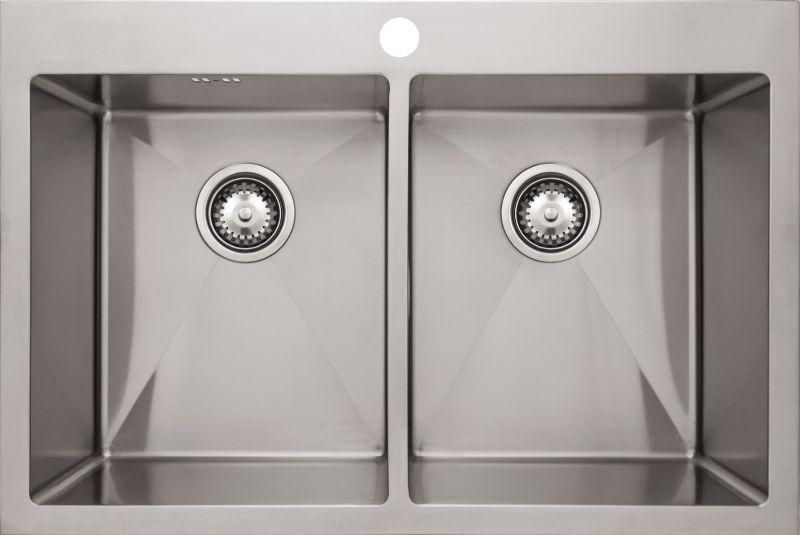 Врезная кухонная мойка Seaman ECO Marino SMB-7651DS.B 76х51см нержавеющая сталь