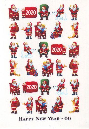 Слайдер-дизайн HAPPY NEW YEAR новогодие фразы слова 2020 год 009