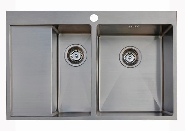 Врезная кухонная мойка Seaman ECO Marino SMB-7851DLS.A 78х51см нержавеющая сталь