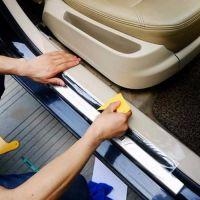 Оклейка порожков и зоны погрузки авто защитной плёнкой