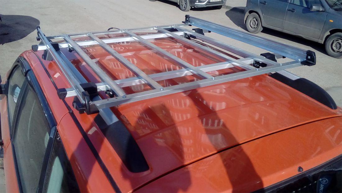 Багажник-корзина на Лада Гранта / Лада Калина универсал, универсал, на рейлинги