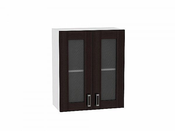Шкаф верхний Лофт В600 со стеклом (Wenge Veralinga)