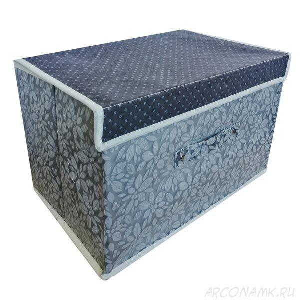 Складной короб для хранения вещей, 36х24х24 см., Цвет: Серый