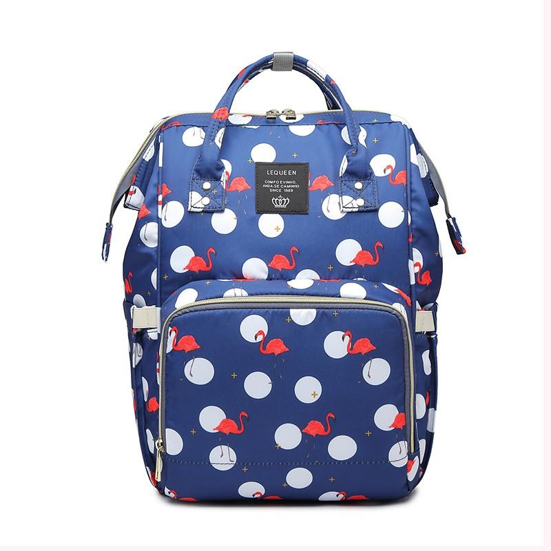 Сумка-Рюкзак Для Мамы Mummy Bag Фламинго, Цвет Синий