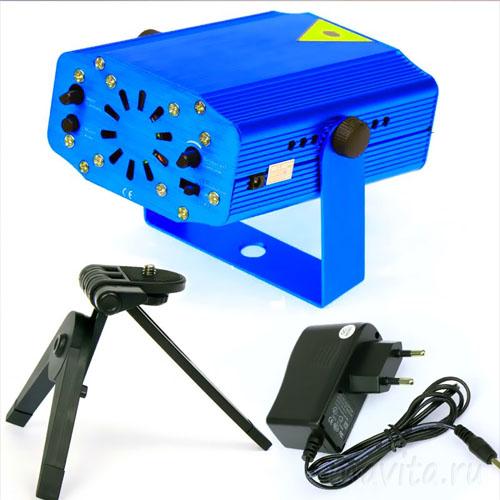Лазерный мини-проектор Mini Laser Stage Lighting