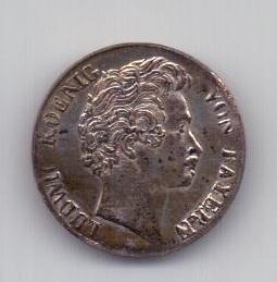 3 крейцера 1829 года UNC Бавария Германия