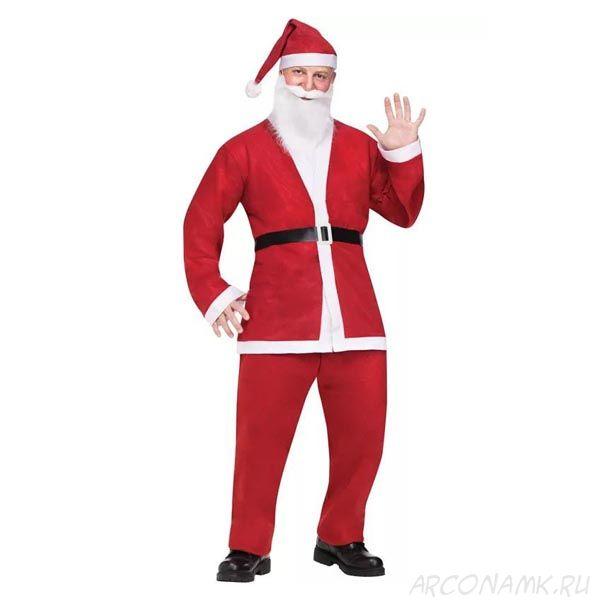 Костюм Санта Клауса с длинной шубой, Размер: 50-54