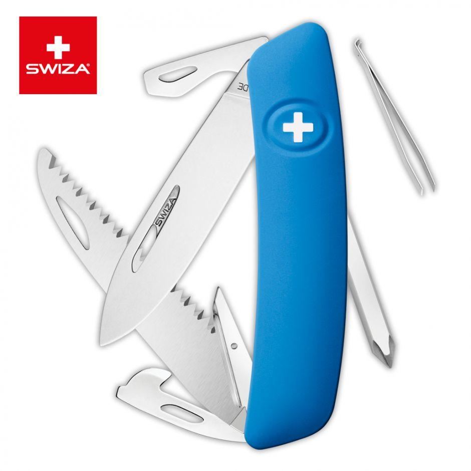 Швейцарский нож SWIZA D06 Standard, 95 мм, 12 функций, синий