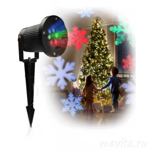 Новогодний Светодиодный Проектор Led Strahler Schneeflocke