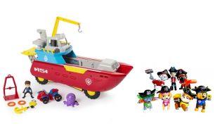 Игровой набор морской корабль  + 7 спасателей Пираты (Щенячий патруль)