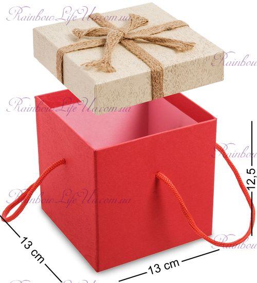 """Коробка подарочная с ручками """"Бант"""""""
