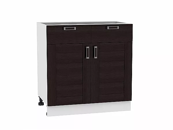 Шкаф нижний Лофт Н801 (Wenge Veralinga)