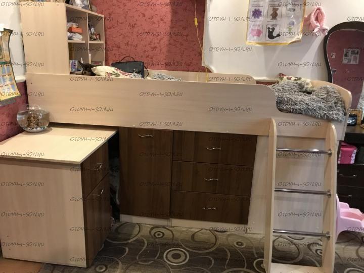 Кровать-чердак Дюймовочка-1