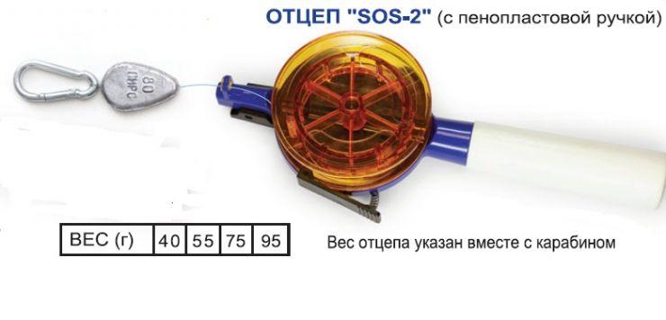 Отцеп SOS-2 с ручкой 75гр Пирс