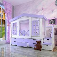 Кровать-чердак Домик Factory №18