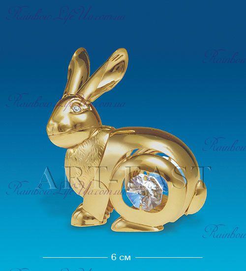 "Фигурка кролик с камнями ""Swarovski"""