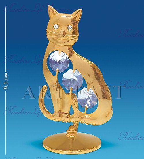 "Фигурка котик с камнями ""Swarovski"""