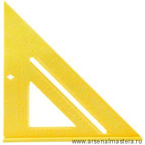 Угольник Swanson Speedlite Square 8/200 мм (шкала в дюймах) Пластик Жёлтый T0119