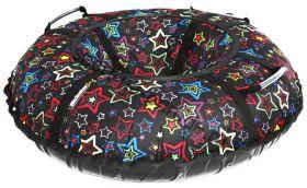 Тюбинг Hubster Люкс Pro Звезды черные 80 см