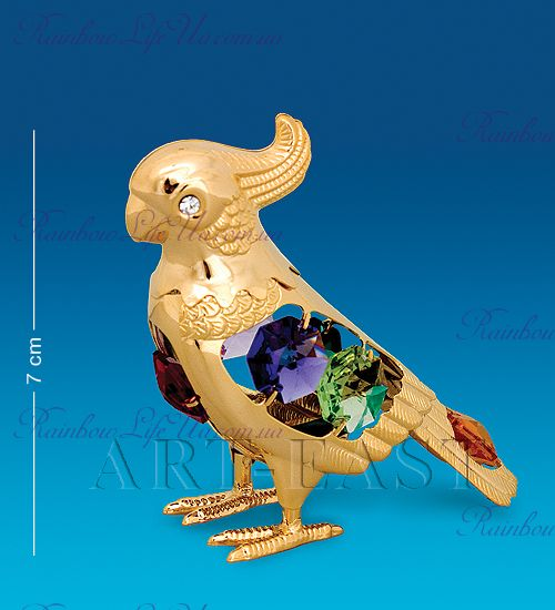 "Статуэтка попугай с камнями ""Swarovski"""