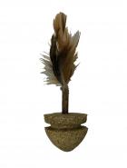 Игрушка из мяты кошачьей с пером (3,5см)