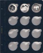 Лист для монет в капсулах диаметром 45 мм (синий) K02-45
