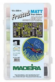 Набор вышивальных ниток Madeira Frosted Matt (18*500м) арт.8087