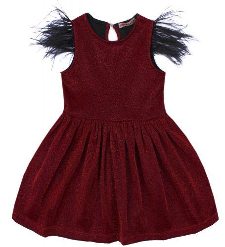 """Платье для девочки Bonito """"Festivity"""" рубиновое"""