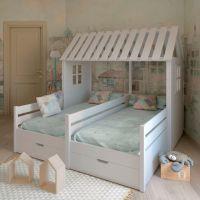 Кровать Домик угловой №4ДИ (для двоих детей)