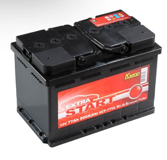 Автомобильный аккумулятор АКБ Extra START (Экстра Старт) 6CT-77 77Ач о.п.