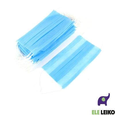 Маска голубая медицинская защитная для лица из нетканных материалов (50/2500)