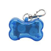 Светодиодный брелок-адресник с информационной наклейкой для собак Косточка, Цвет Синий (2)