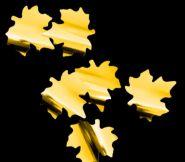 Снежный шторм Кленовые листья 4,1см золотые
