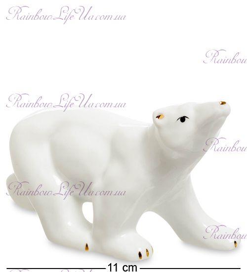 """Фигурка с позолотой белый медведь """"XA"""""""