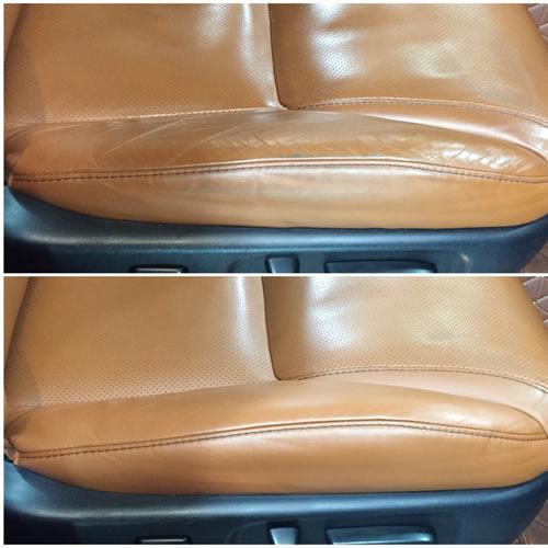 Ремонт потёртостей кожаных сидений авто