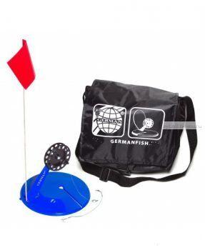 Жерлица в сумке German оснащенная малая синяя (10 шт) черная сумка