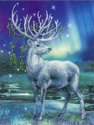 Набор для вышивания крестом Белый олень РТ 0043 фирма Риолис