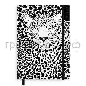 Книжка зап.Феникс+ А5 Леопард 96л. в точку белый/черный 51531