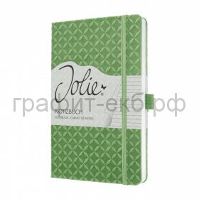 Книжка записная SIGEL JOLIE FLAIR А5 174стр.лин.тв.обл. зеленая JN113