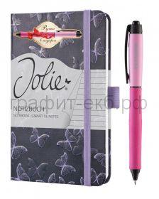 Книжка записная SIGEL JOLIE BEAUTY А6 174стр.лин.тв.обл. волшебные бабочки + ручка JN312-268/3-41-3
