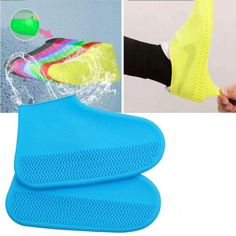 Водонепроницаемые Защитные Чехлы для Обуви Waterproof Silicone Shoe Cover, Размер S, Цвет Синий