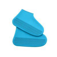 Водонепроницаемые Защитные Чехлы для Обуви Waterproof Silicone Shoe Cover, Цвет Синий (2)