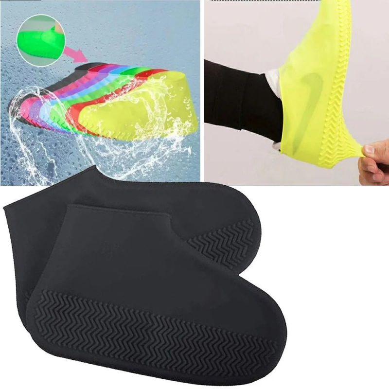 Водонепроницаемые Защитные Чехлы для Обуви Waterproof Silicone Shoe Cover, Размер M, Цвет Черный