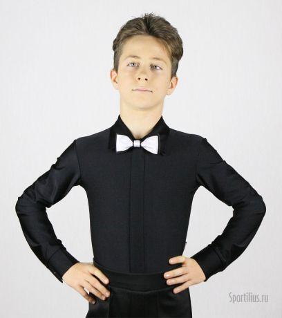 Рубашка для танцев черная на молнии