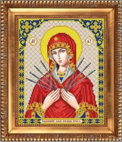 И-4087 Благовест. Пресвятая Богородица Семистрельная. А4 (набор 825 рублей)