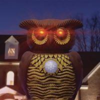 Садовый ультразвуковой отпугиватель вредителей со светодиодной подсветкой Owl Alert (5)