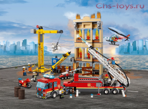 Конструктор Lari Город Центральная пожарная станция 11216 (60216) 985 дет